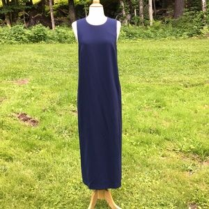 Theory 4 Blue Frashil  Admiral Crepe Maxi Dress